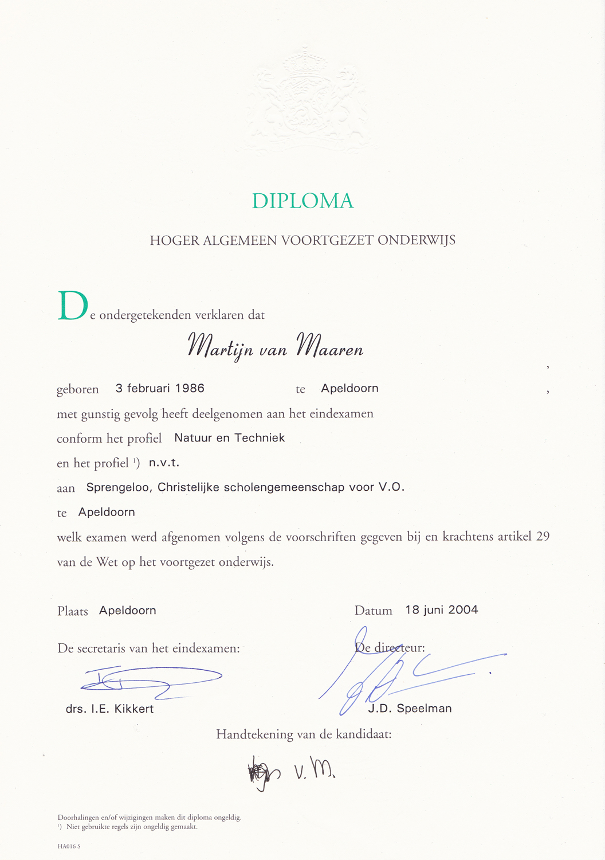 havo  u2013 diploma